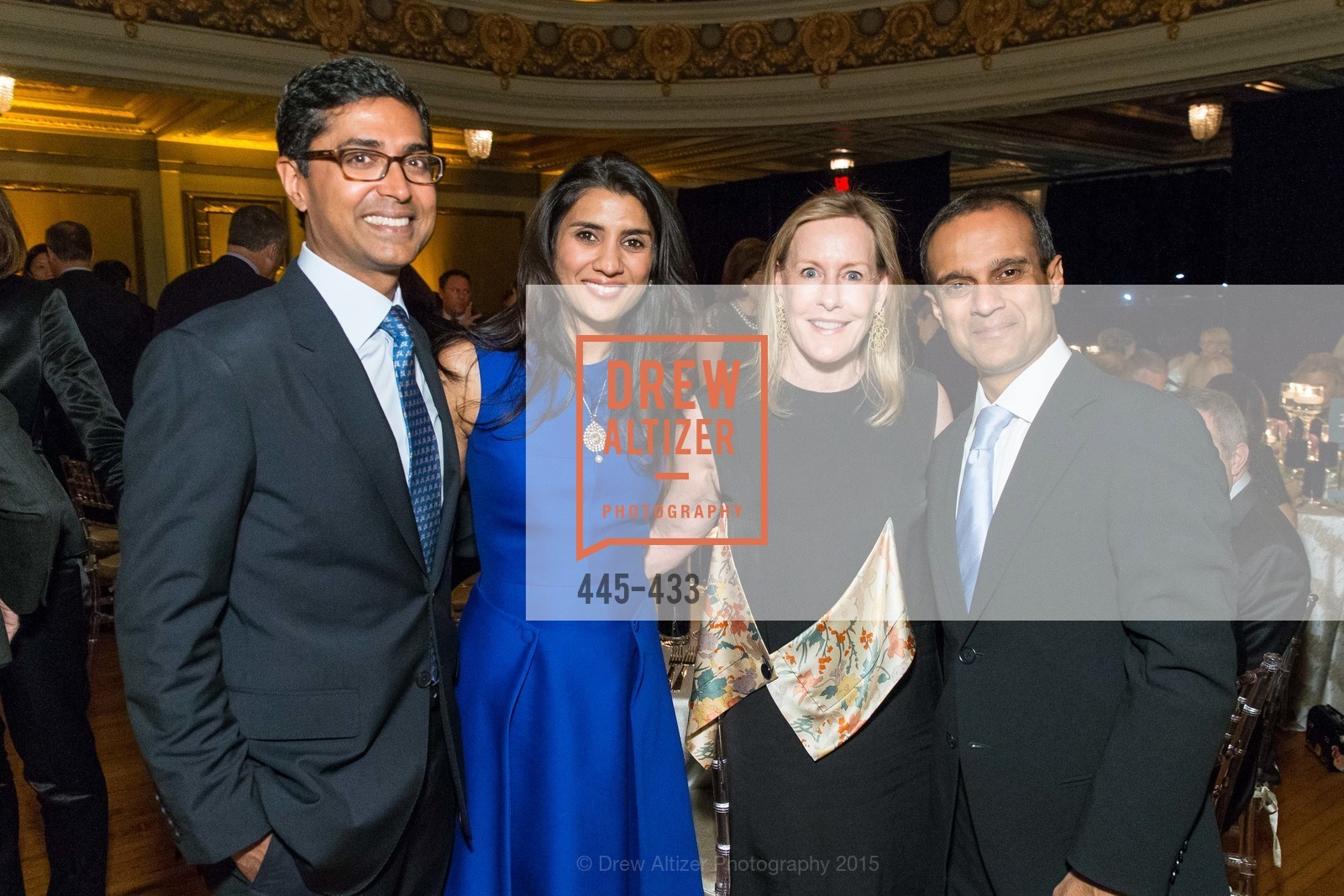 Ravin Agrawal, Alka Agrawal, Gay-Lynn Blanding, Gaurav Garg, SFMOMA Contemporary Vision Award, Regency Ballroom. 1300 Van Ness, November 3rd, 2015,Drew Altizer, Drew Altizer Photography, full-service agency, private events, San Francisco photographer, photographer california