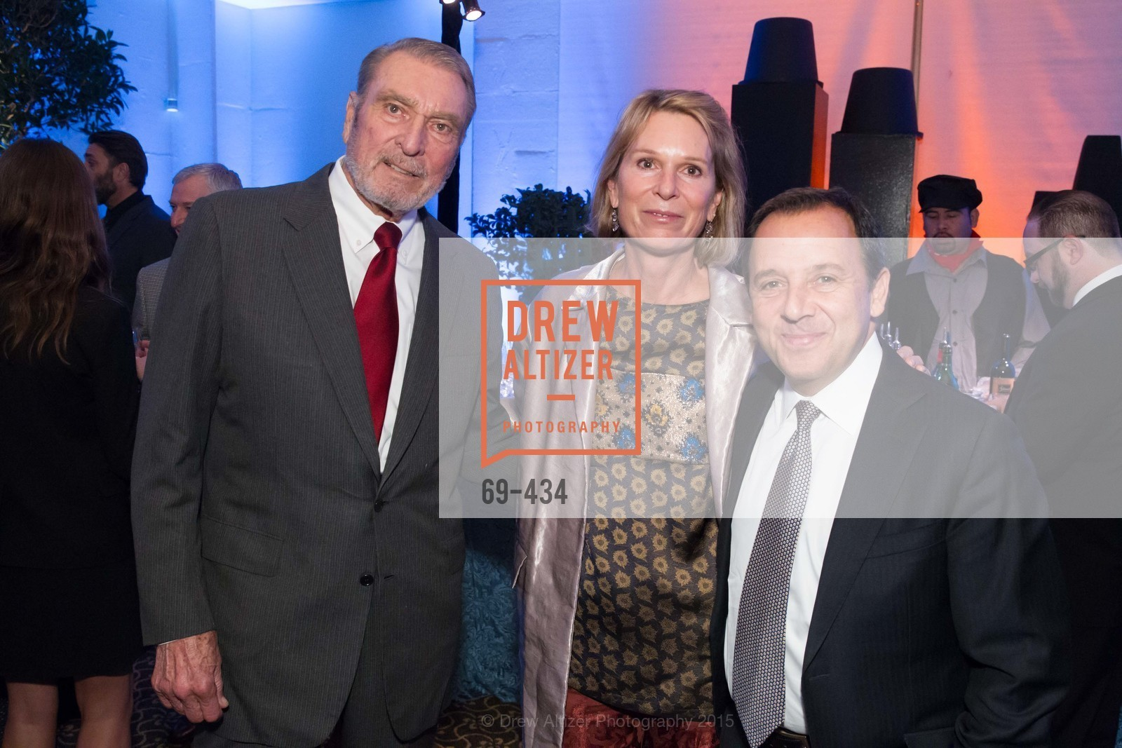 Ron Miller, Jennifer Goff, Ron Suskind, The Walt Disney Family Museum Fundraising Gala and Diane Disney Miller Lifetime Achievement Award, Golden Gate Club. 135 Fisher Loop in the Presidio, November 3rd, 2015,Drew Altizer, Drew Altizer Photography, full-service event agency, private events, San Francisco photographer, photographer California