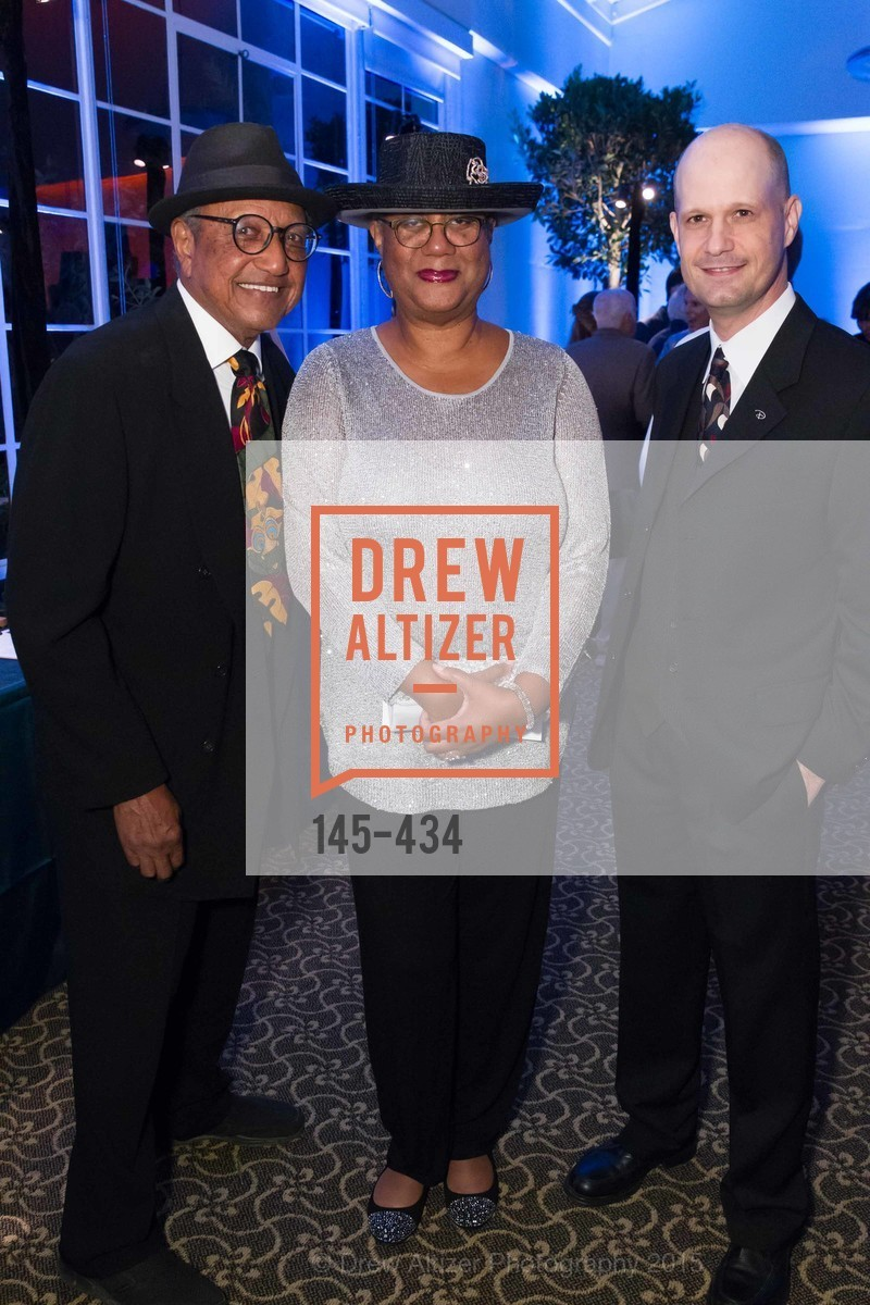 Floyd Norman, Adrienne Norman, Rick Law, The Walt Disney Family Museum Fundraising Gala and Diane Disney Miller Lifetime Achievement Award, Golden Gate Club. 135 Fisher Loop in the Presidio, November 3rd, 2015,Drew Altizer, Drew Altizer Photography, full-service agency, private events, San Francisco photographer, photographer california