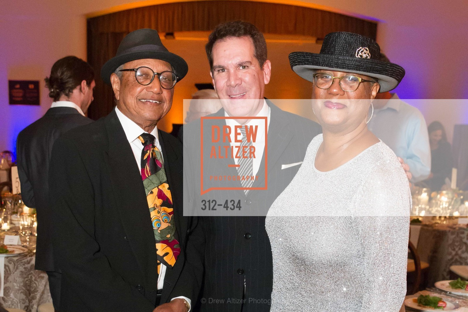 Floyd Norman, Tony Anslemo, Adrienne Norman, The Walt Disney Family Museum Fundraising Gala and Diane Disney Miller Lifetime Achievement Award, Golden Gate Club. 135 Fisher Loop in the Presidio, November 3rd, 2015,Drew Altizer, Drew Altizer Photography, full-service agency, private events, San Francisco photographer, photographer california