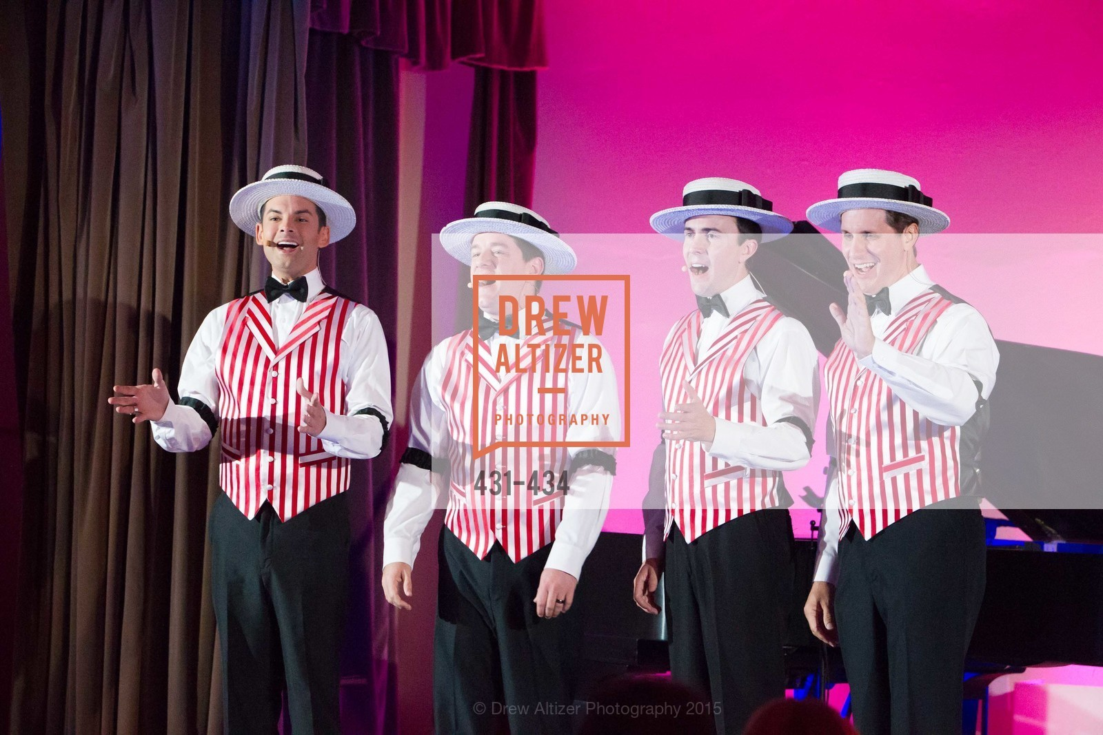 Performance By Dapper Dans of Disneyland, The Walt Disney Family Museum Fundraising Gala and Diane Disney Miller Lifetime Achievement Award, Golden Gate Club. 135 Fisher Loop in the Presidio, November 3rd, 2015,Drew Altizer, Drew Altizer Photography, full-service agency, private events, San Francisco photographer, photographer california