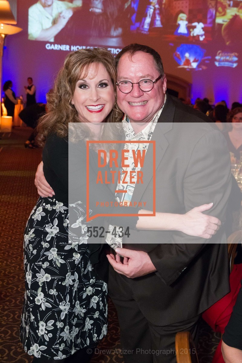 Jodi Benson, John Lasseter, The Walt Disney Family Museum Fundraising Gala and Diane Disney Miller Lifetime Achievement Award, Golden Gate Club. 135 Fisher Loop in the Presidio, November 3rd, 2015,Drew Altizer, Drew Altizer Photography, full-service agency, private events, San Francisco photographer, photographer california