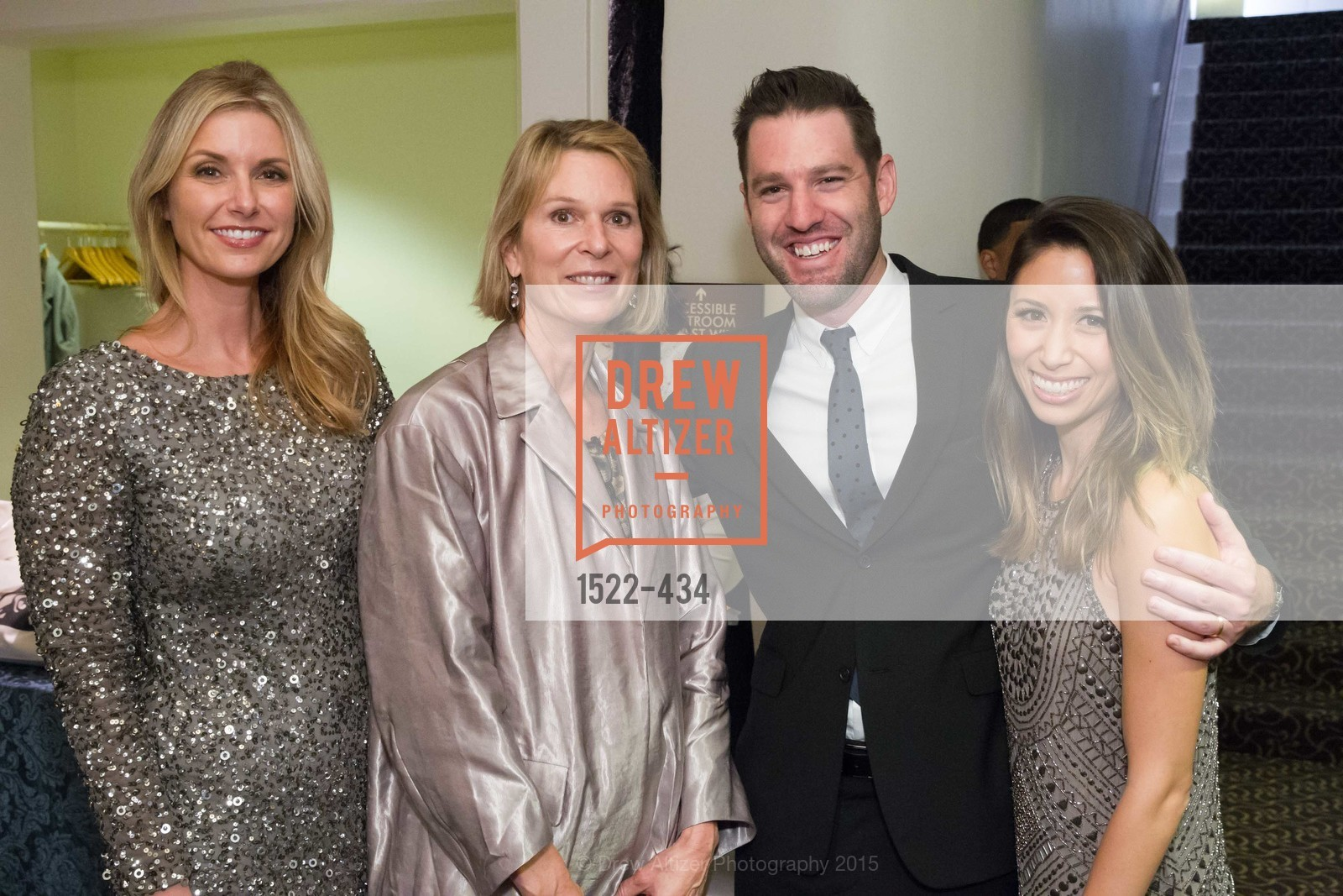 Molly Alexander, Jennifer Goff, Mark DiPaola, Jessica DiPaola, The Walt Disney Family Museum Fundraising Gala and Diane Disney Miller Lifetime Achievement Award, Golden Gate Club. 135 Fisher Loop in the Presidio, November 3rd, 2015,Drew Altizer, Drew Altizer Photography, full-service event agency, private events, San Francisco photographer, photographer California