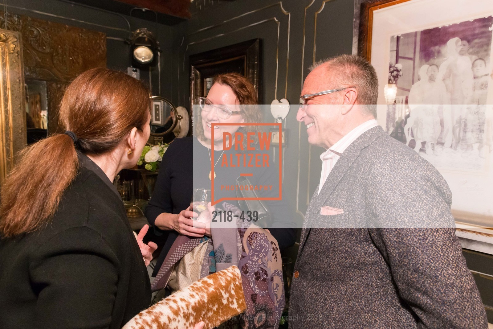 Dara Rosenfeld, MaryJo Bowling, Neal Ward, J.RACHMAN FIRST LOOK AND GRAND OPENING, JONATHAN RACHMAN DESIGN. 1632C MARKET ST, November 4th, 2015
