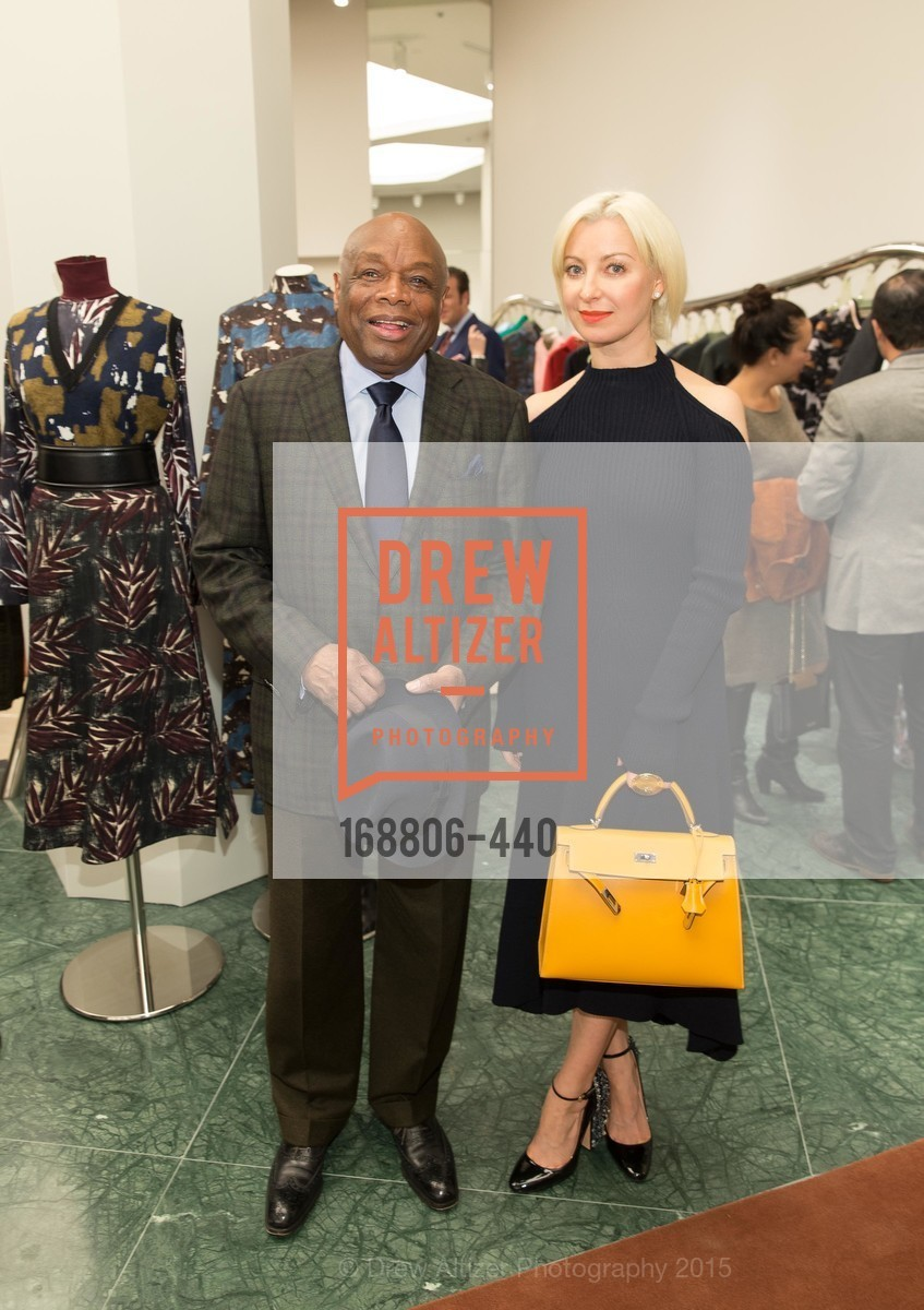 Willie Brown, Sonya Molodetskaya, W Magazine and BAMPFA Celebrate the Opening of the Marni San Francisco Boutique with co-hosts Sabrina Buell and Alison Pincus, Marni San Francisco. 77 Maiden Lane, November 4th, 2015,Drew Altizer, Drew Altizer Photography, full-service event agency, private events, San Francisco photographer, photographer California