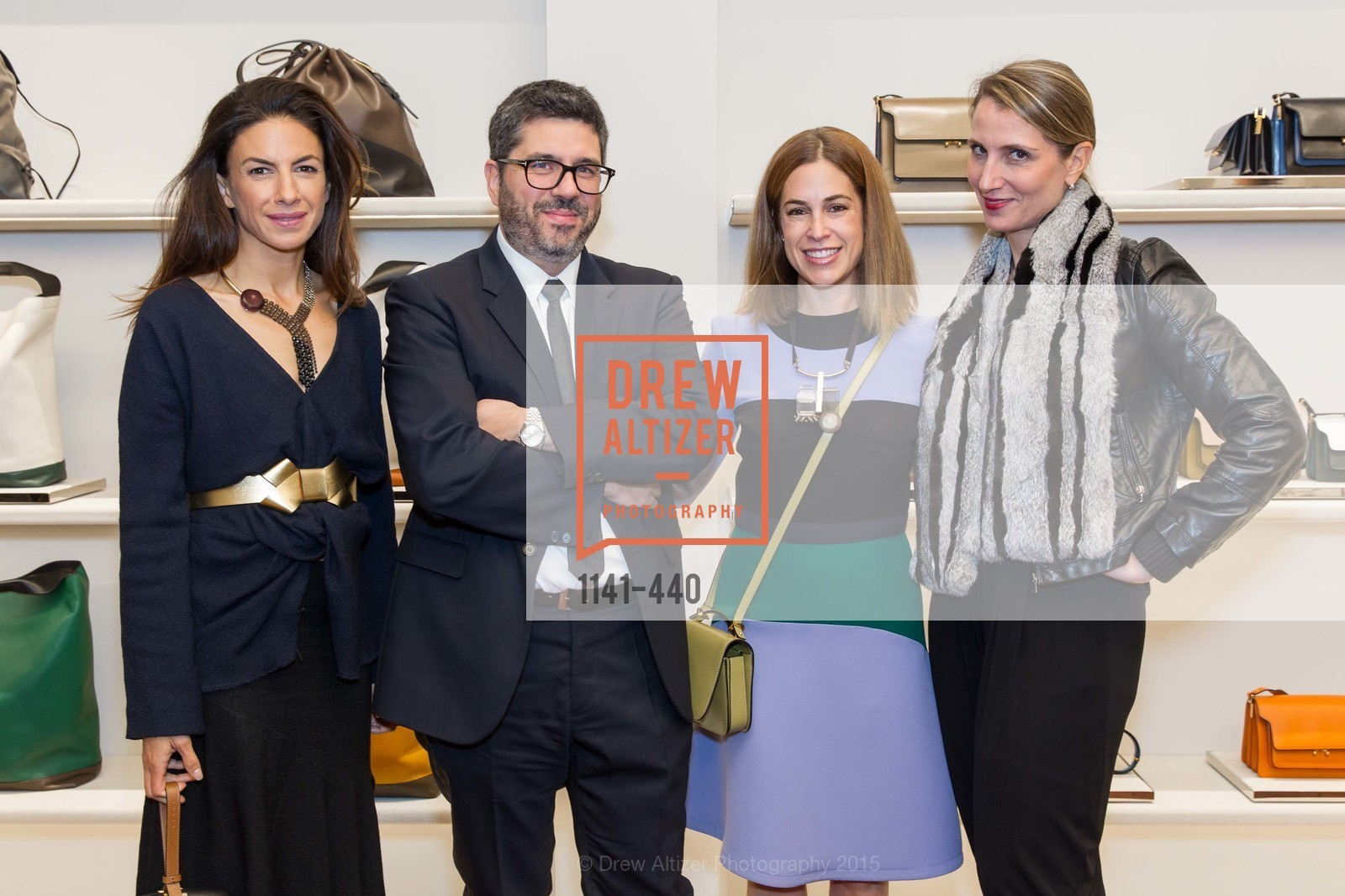 Allison Pincus, Andrea Baldo, Sabrina Buell, Andrea Baldo, W Magazine and BAMPFA Celebrate the Opening of the Marni San Francisco Boutique with co-hosts Sabrina Buell and Alison Pincus, Marni San Francisco. 77 Maiden Lane, November 4th, 2015,Drew Altizer, Drew Altizer Photography, full-service agency, private events, San Francisco photographer, photographer california