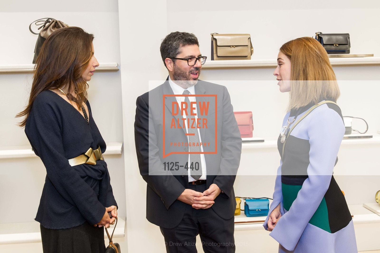 Sabrina Buell, Andrea Baldo, Allison Pincus, W Magazine and BAMPFA Celebrate the Opening of the Marni San Francisco Boutique with co-hosts Sabrina Buell and Alison Pincus, Marni San Francisco. 77 Maiden Lane, November 4th, 2015,Drew Altizer, Drew Altizer Photography, full-service agency, private events, San Francisco photographer, photographer california
