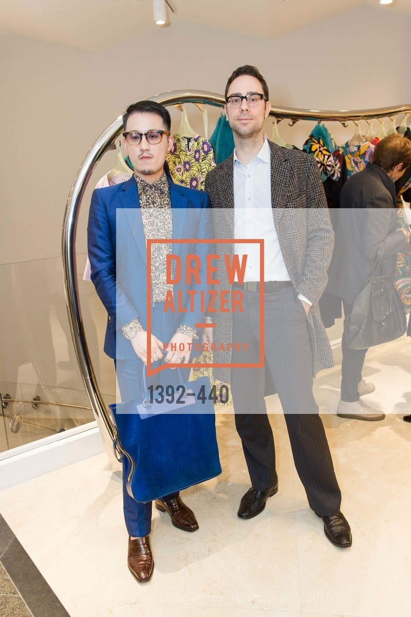 Jeffrey Ying, Sven Edward, W Magazine and BAMPFA Celebrate the Opening of the Marni San Francisco Boutique with co-hosts Sabrina Buell and Alison Pincus, Marni San Francisco. 77 Maiden Lane, November 4th, 2015,Drew Altizer, Drew Altizer Photography, full-service agency, private events, San Francisco photographer, photographer california