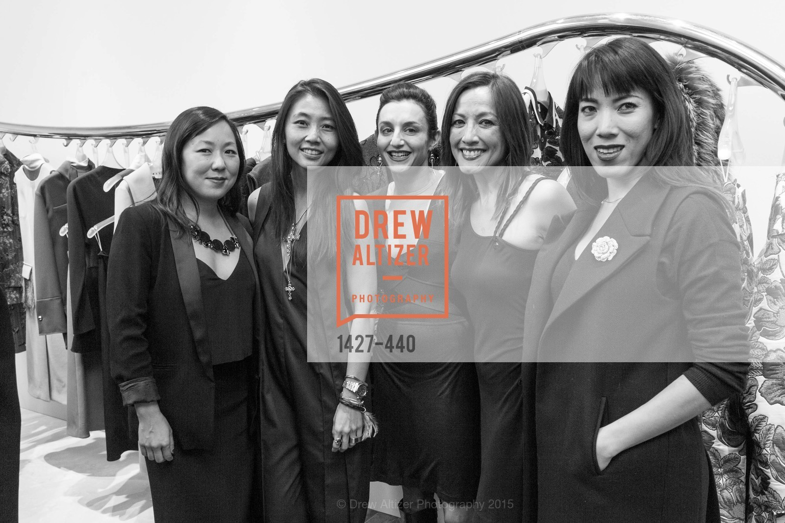 Celia Chen, Carol Wong, Stellah De Ville, Vaughn Stevenson, Hang Nguyen, W Magazine and BAMPFA Celebrate the Opening of the Marni San Francisco Boutique with co-hosts Sabrina Buell and Alison Pincus, Marni San Francisco. 77 Maiden Lane, November 4th, 2015,Drew Altizer, Drew Altizer Photography, full-service agency, private events, San Francisco photographer, photographer california