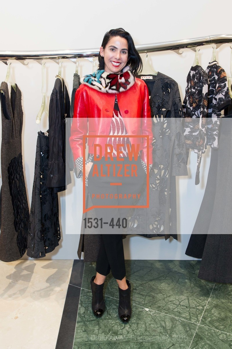 Maria Tores, W Magazine and BAMPFA Celebrate the Opening of the Marni San Francisco Boutique with co-hosts Sabrina Buell and Alison Pincus, Marni San Francisco. 77 Maiden Lane, November 4th, 2015,Drew Altizer, Drew Altizer Photography, full-service agency, private events, San Francisco photographer, photographer california