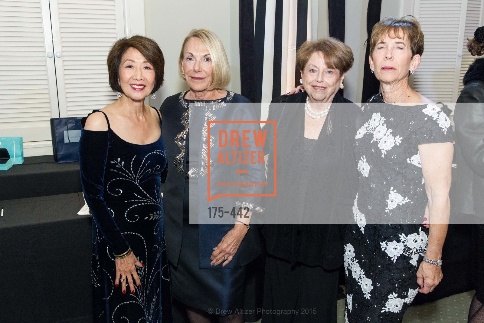 Jan Yanehiro, Georgene Petri, Frances Berger, Rosalind Epstein, Metropolitan Club Presents THE CENTENNIAL GALA, Metropolitan Club. 640 Sutter Street, November 5th, 2015,Drew Altizer, Drew Altizer Photography, full-service agency, private events, San Francisco photographer, photographer california