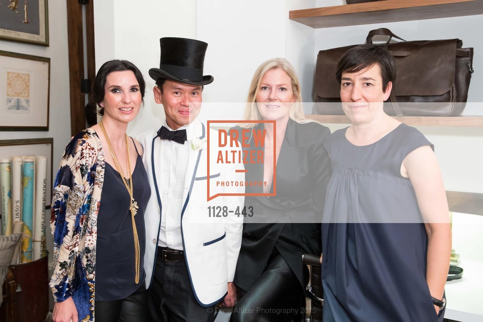 Luisa Serna-Borga, Jonathan Rachman, Margot Larkin, Judith Ibanez, J.RACHMAN GRAND OPENING AND BOOK SIGNING BY ALISON CARLSON
