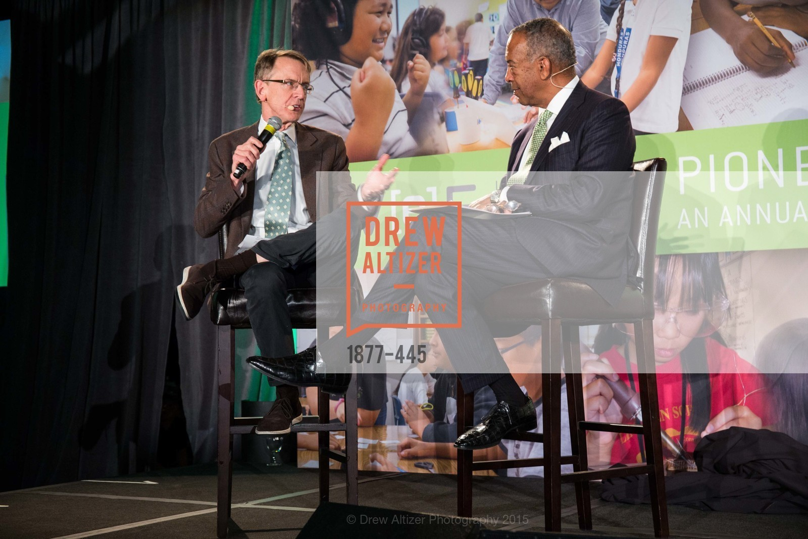 John Doerr, John W. Thompson, Silicon Valley Education Foundation's PIONEERS & PURPOSE, Computer History Museum. 1401 N. Shoreline Blvd, November 4th, 2015,Drew Altizer, Drew Altizer Photography, full-service agency, private events, San Francisco photographer, photographer california