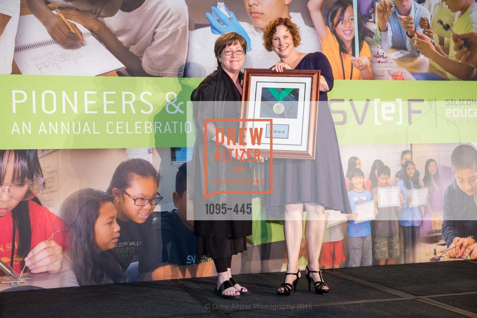 Tamara Hudgins, Colleen Cassity, Silicon Valley Education Foundation's PIONEERS & PURPOSE, Computer History Museum. 1401 N. Shoreline Blvd, November 4th, 2015,Drew Altizer, Drew Altizer Photography, full-service agency, private events, San Francisco photographer, photographer california