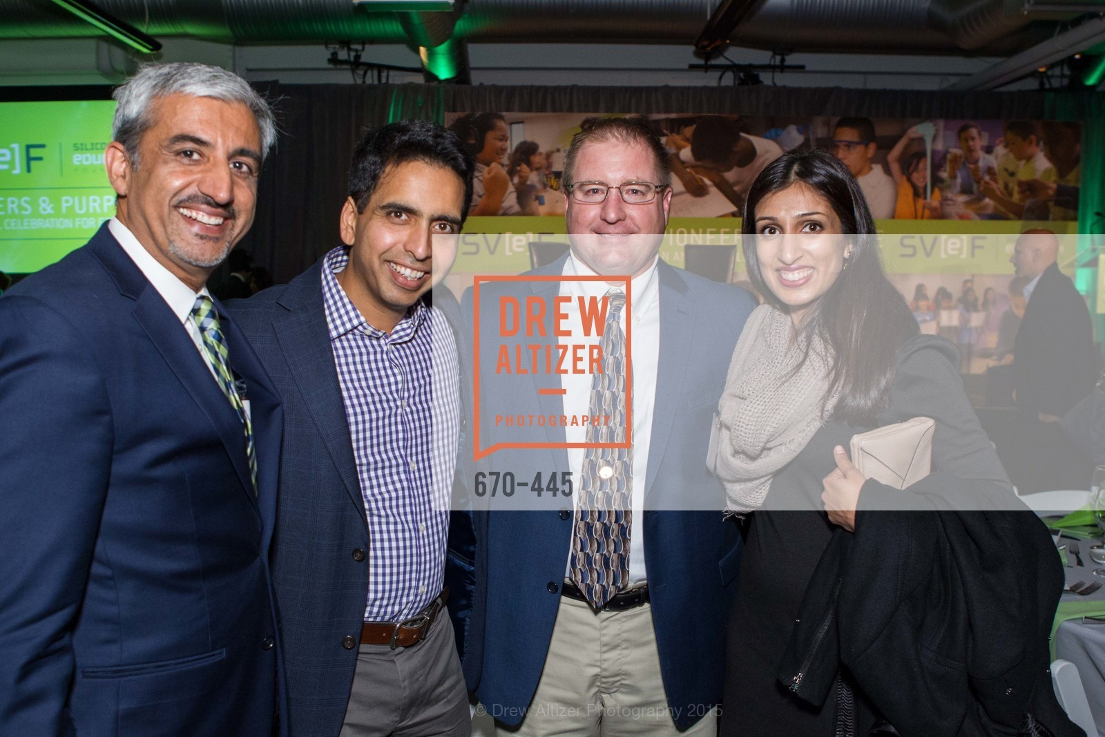 Muhammed Chaudhry, Salman Khan, David Hill, Umaima Marvi, Silicon Valley Education Foundation's PIONEERS & PURPOSE, Computer History Museum. 1401 N. Shoreline Blvd, November 4th, 2015,Drew Altizer, Drew Altizer Photography, full-service agency, private events, San Francisco photographer, photographer california