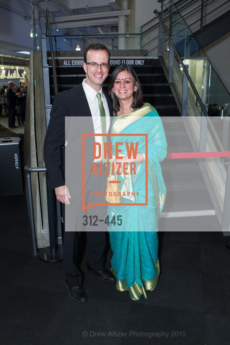 Marc Berman, Arati Nagaraj, Silicon Valley Education Foundation's PIONEERS & PURPOSE, Computer History Museum. 1401 N. Shoreline Blvd, November 4th, 2015,Drew Altizer, Drew Altizer Photography, full-service agency, private events, San Francisco photographer, photographer california