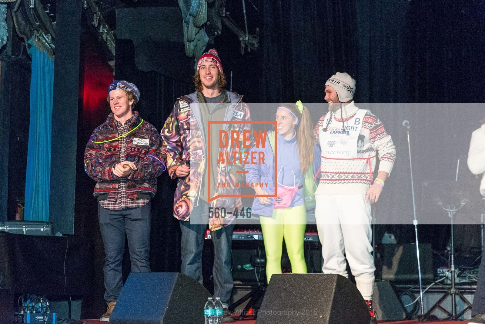 Erik Arvidsson, Bryce Bennett, Maddie Bowman, Travis Ganong, U.S. Ski and Snowboard Foundation's Snow Ball, Bimbo's 365 Club. 1025 Columbus Ave, November 7th, 2015,Drew Altizer, Drew Altizer Photography, full-service agency, private events, San Francisco photographer, photographer california