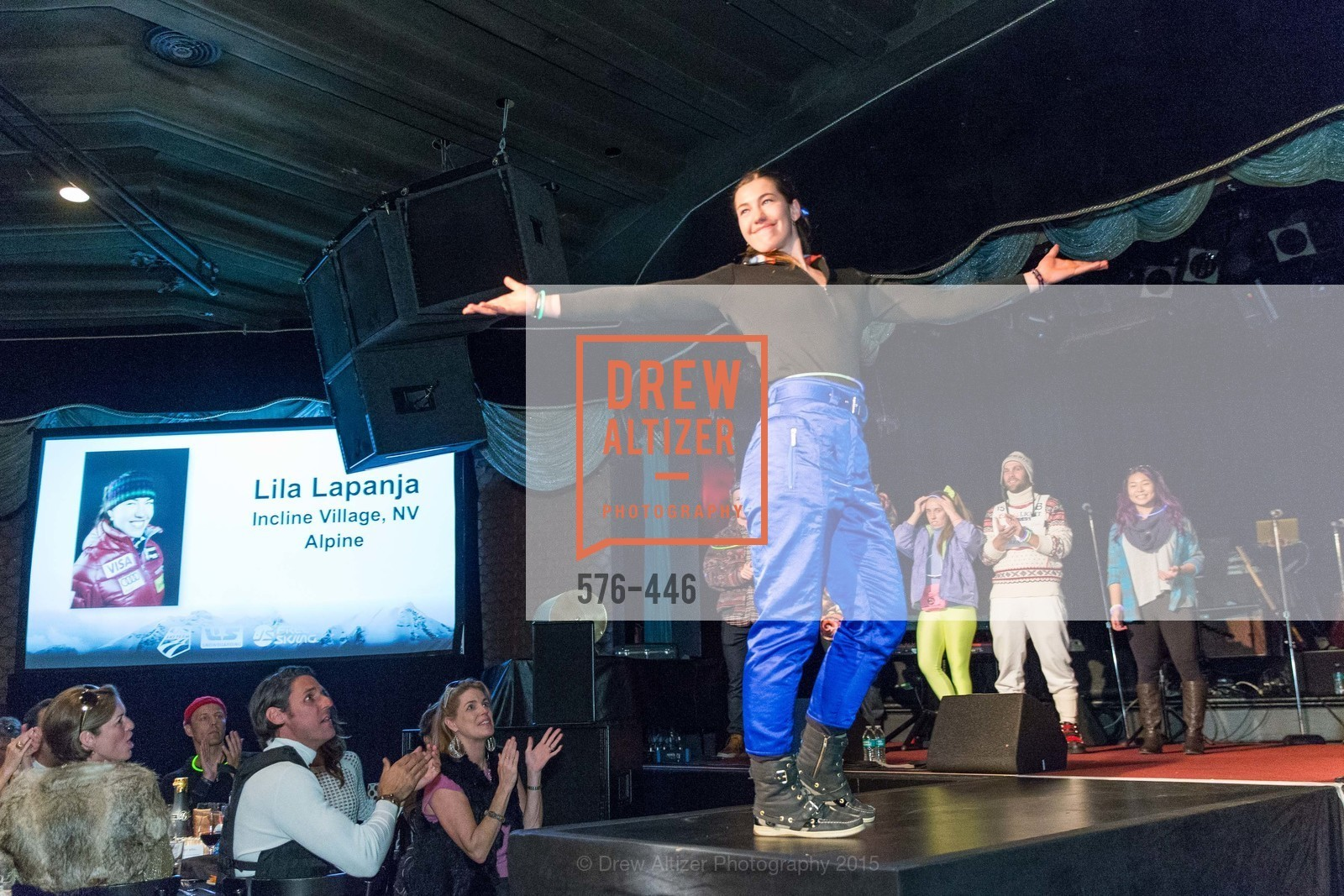 Lisa Lapanja, U.S. Ski and Snowboard Foundation's Snow Ball, Bimbo's 365 Club. 1025 Columbus Ave, November 7th, 2015