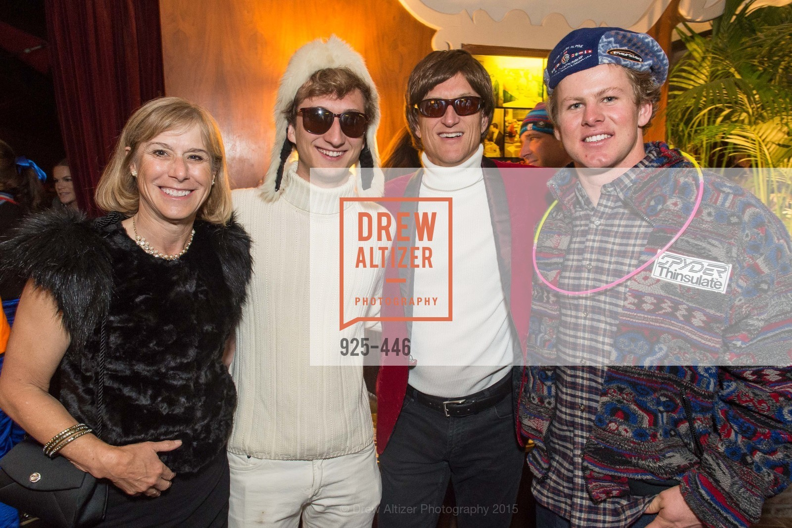 Ronnie Metlock, Taylor Francis, Tod Francis, Erik Arvidsson, U.S. Ski and Snowboard Foundation's Snow Ball, Bimbo's 365 Club. 1025 Columbus Ave, November 7th, 2015,Drew Altizer, Drew Altizer Photography, full-service agency, private events, San Francisco photographer, photographer california