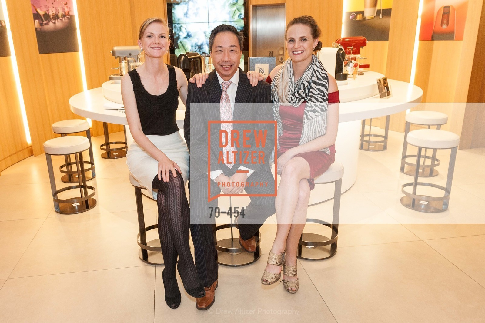 Greer Goings, Wilson Yan, Alyson Blume, 2014 SAN FRANCISCO BALLET ENCORE! Kick-Off Party, US. Nespresso Boutique Bar, 90 Grant Avenue, January 7th, 2014,Drew Altizer, Drew Altizer Photography, full-service event agency, private events, San Francisco photographer, photographer California