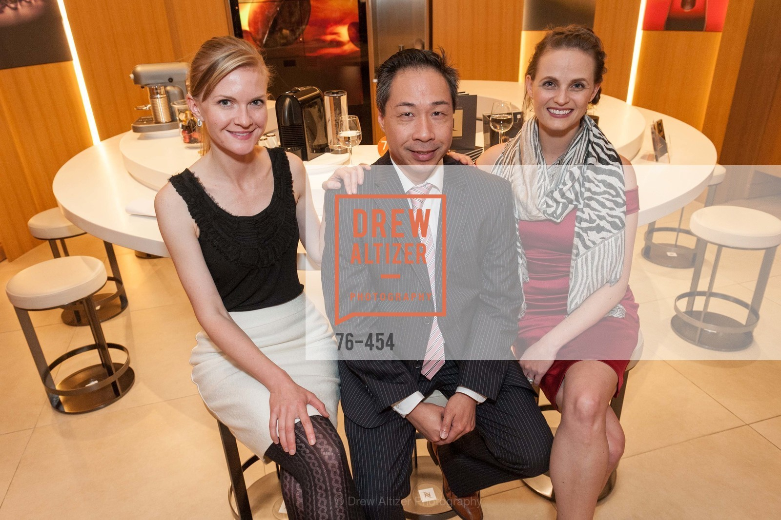 Greer Goings, Wilson Yan, Alyson Blume, 2014 SAN FRANCISCO BALLET ENCORE! Kick-Off Party, US. Nespresso Boutique Bar, 90 Grant Avenue, January 7th, 2014,Drew Altizer, Drew Altizer Photography, full-service agency, private events, San Francisco photographer, photographer california