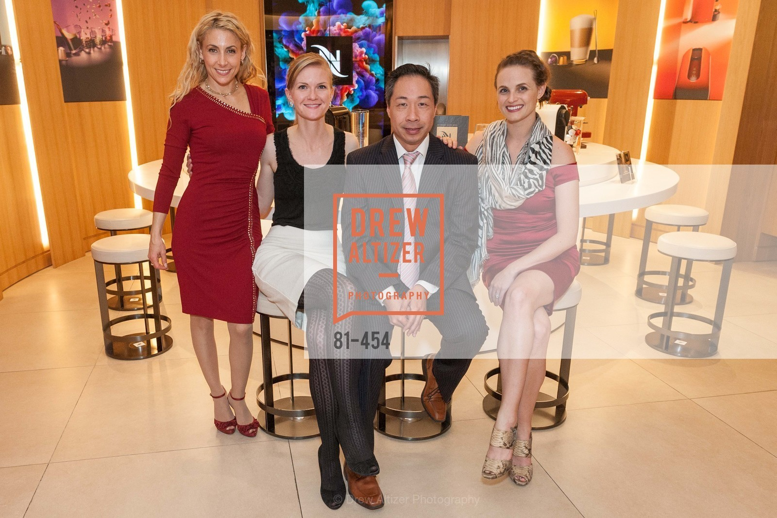 Robin Farmanfarmaian, Greer Goings, Wilson Yan, Alyson Blume, 2014 SAN FRANCISCO BALLET ENCORE! Kick-Off Party, US. Nespresso Boutique Bar, 90 Grant Avenue, January 7th, 2014,Drew Altizer, Drew Altizer Photography, full-service agency, private events, San Francisco photographer, photographer california