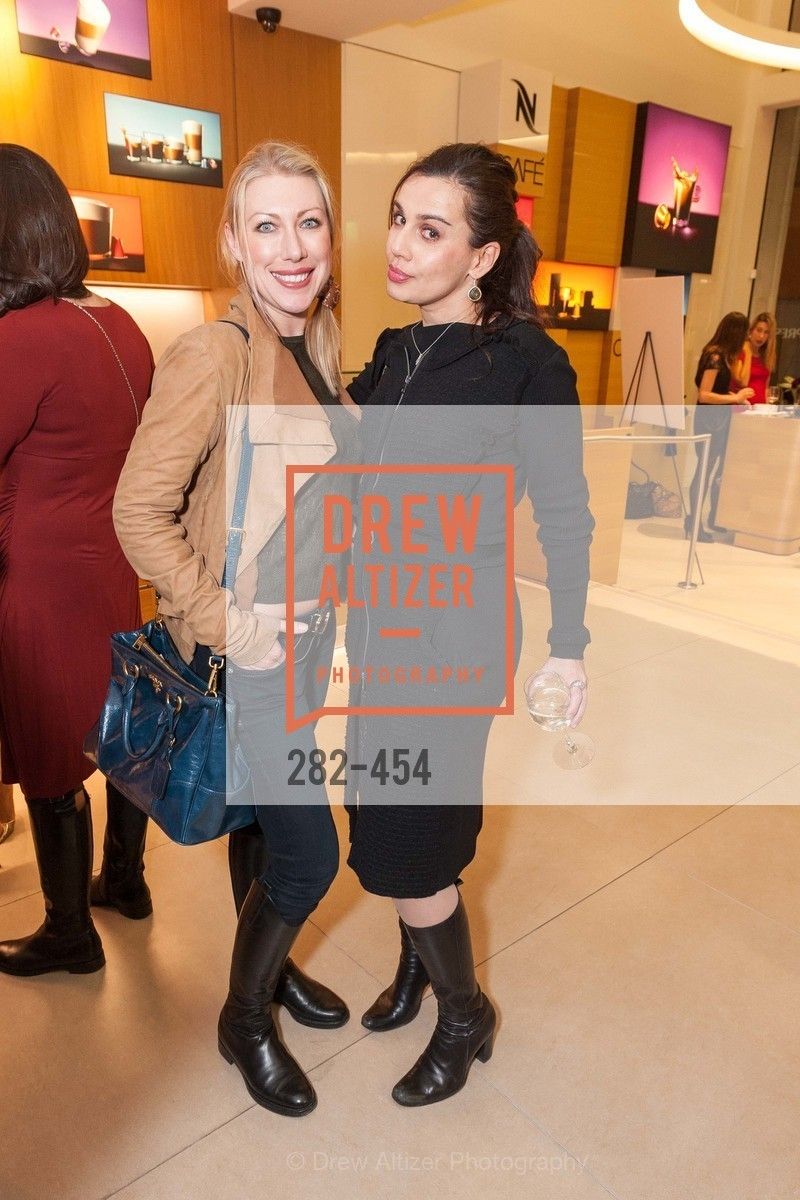 Lana Dobbs, Maya Gervis, 2014 SAN FRANCISCO BALLET ENCORE! Kick-Off Party, US. Nespresso Boutique Bar, 90 Grant Avenue, January 7th, 2014,Drew Altizer, Drew Altizer Photography, full-service agency, private events, San Francisco photographer, photographer california
