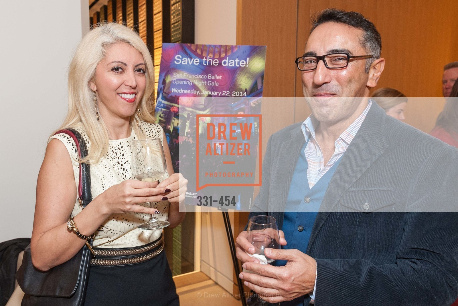 Simone Derayeh, Amir Borna, 2014 SAN FRANCISCO BALLET ENCORE! Kick-Off Party, US. Nespresso Boutique Bar, 90 Grant Avenue, January 7th, 2014,Drew Altizer, Drew Altizer Photography, full-service agency, private events, San Francisco photographer, photographer california