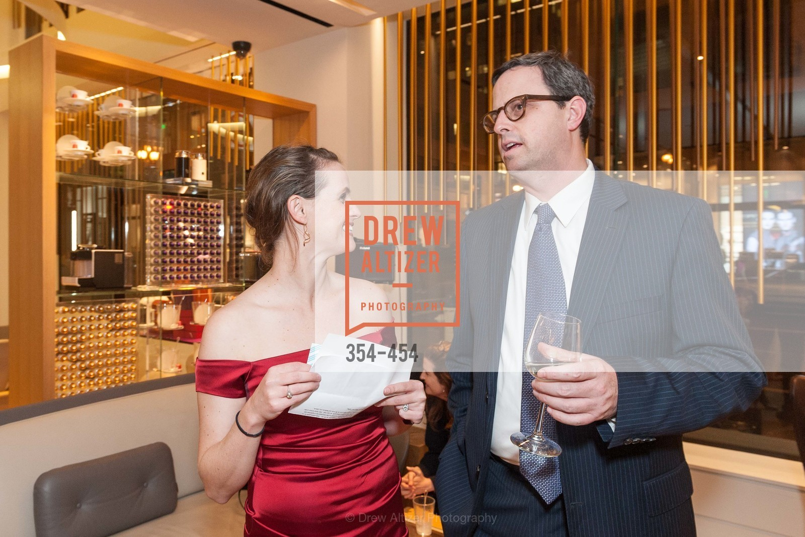 Alyson Blume, Justin Bank, 2014 SAN FRANCISCO BALLET ENCORE! Kick-Off Party, US. Nespresso Boutique Bar, 90 Grant Avenue, January 7th, 2014,Drew Altizer, Drew Altizer Photography, full-service agency, private events, San Francisco photographer, photographer california