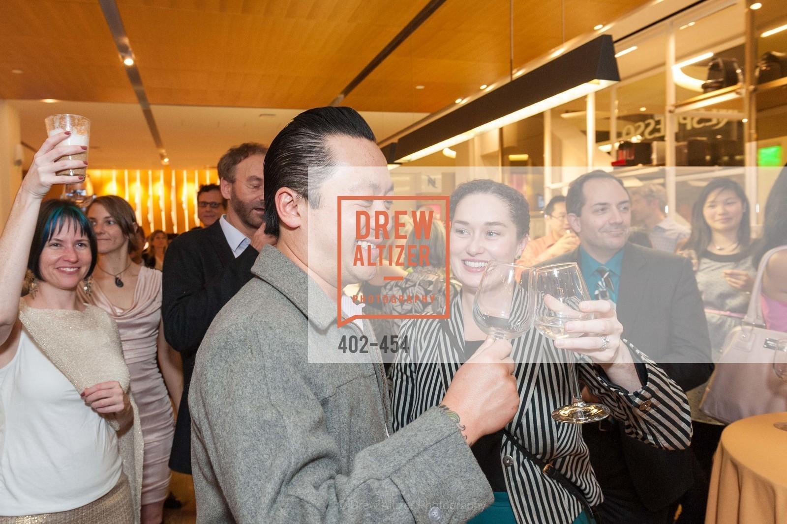 Mike Nguyen, Bridget Dixon, 2014 SAN FRANCISCO BALLET ENCORE! Kick-Off Party, US. Nespresso Boutique Bar, 90 Grant Avenue, January 7th, 2014,Drew Altizer, Drew Altizer Photography, full-service agency, private events, San Francisco photographer, photographer california