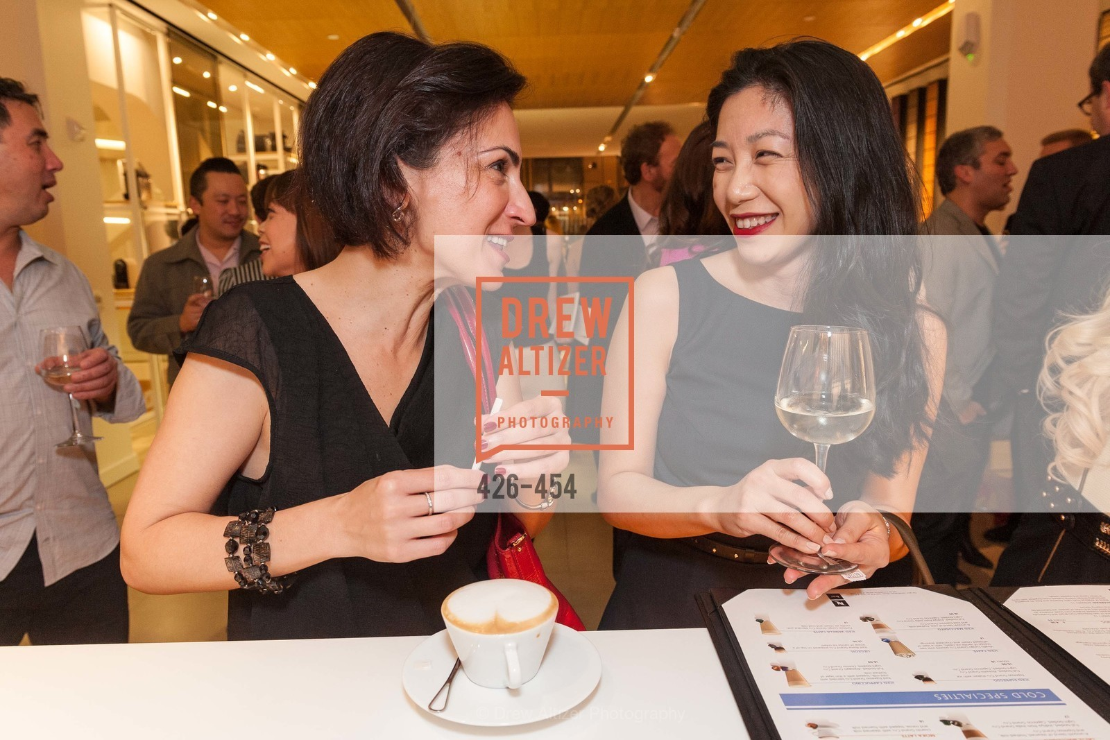 Irina Bragin, Evangeline Chua, 2014 SAN FRANCISCO BALLET ENCORE! Kick-Off Party, US. Nespresso Boutique Bar, 90 Grant Avenue, January 7th, 2014,Drew Altizer, Drew Altizer Photography, full-service agency, private events, San Francisco photographer, photographer california