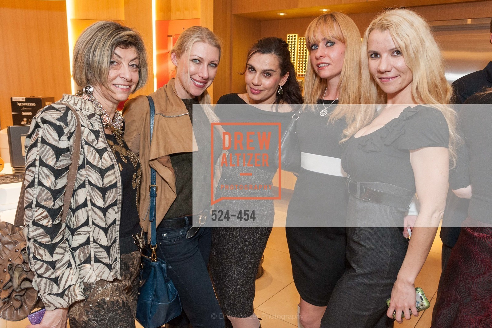 Ludmila Eggleton, Lana Dobbs, Maya Gervis, Irina Kondratenko, 2014 SAN FRANCISCO BALLET ENCORE! Kick-Off Party, US. Nespresso Boutique Bar, 90 Grant Avenue, January 7th, 2014,Drew Altizer, Drew Altizer Photography, full-service agency, private events, San Francisco photographer, photographer california