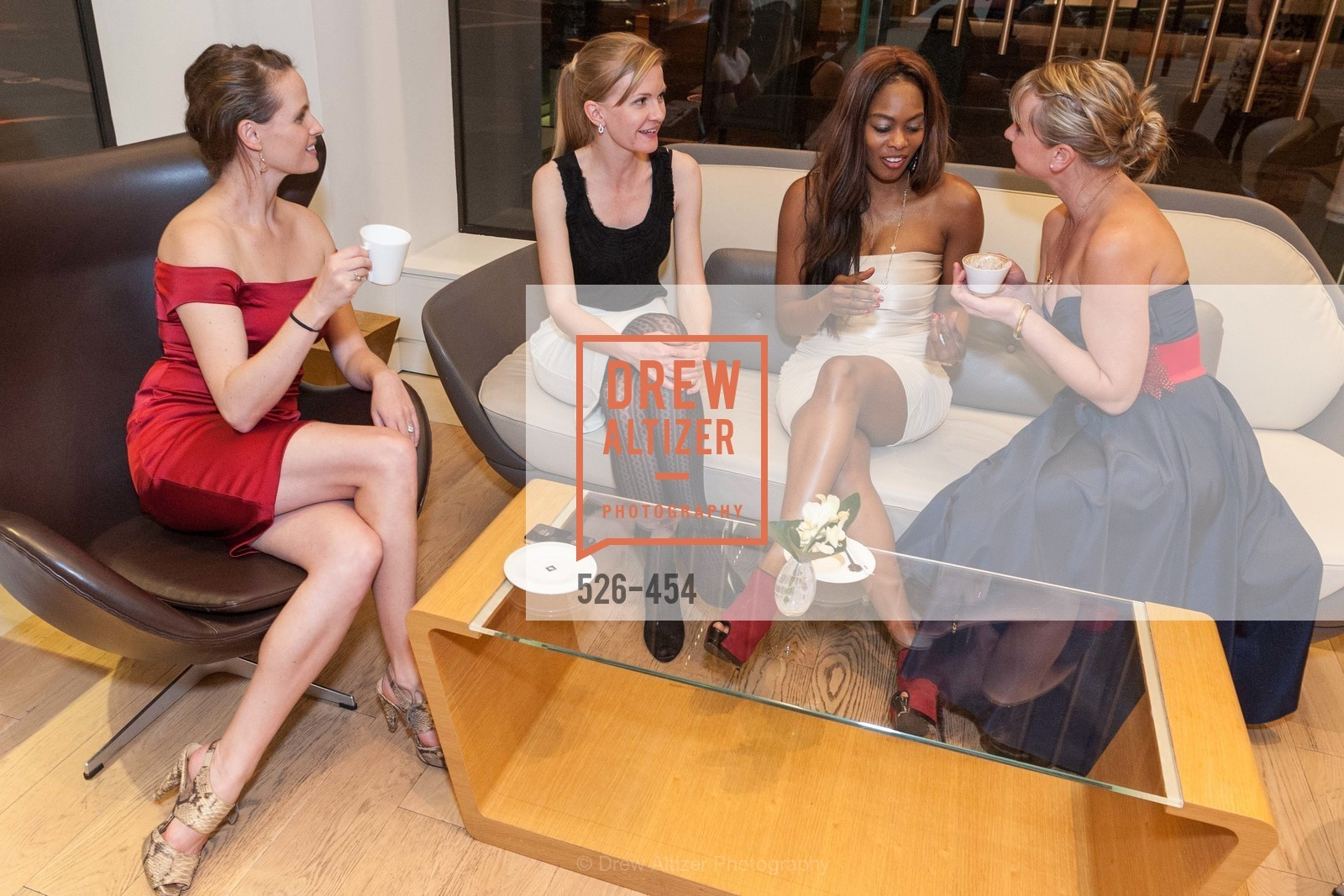 Alyson Blume, Greer Goings, Vanessa Jean Baptiste, Kelly Cramer, 2014 SAN FRANCISCO BALLET ENCORE! Kick-Off Party, US. Nespresso Boutique Bar, 90 Grant Avenue, January 7th, 2014,Drew Altizer, Drew Altizer Photography, full-service agency, private events, San Francisco photographer, photographer california