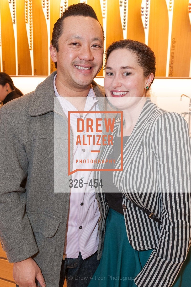 Mike Nguyen, Bridget Dixon, 2014 SAN FRANCISCO BALLET ENCORE! Kick-Off Party, US. Nespresso Boutique Bar, 90 Grant Avenue, January 7th, 2014,Drew Altizer, Drew Altizer Photography, full-service agency, private events, San Francisco photographer, photographer california