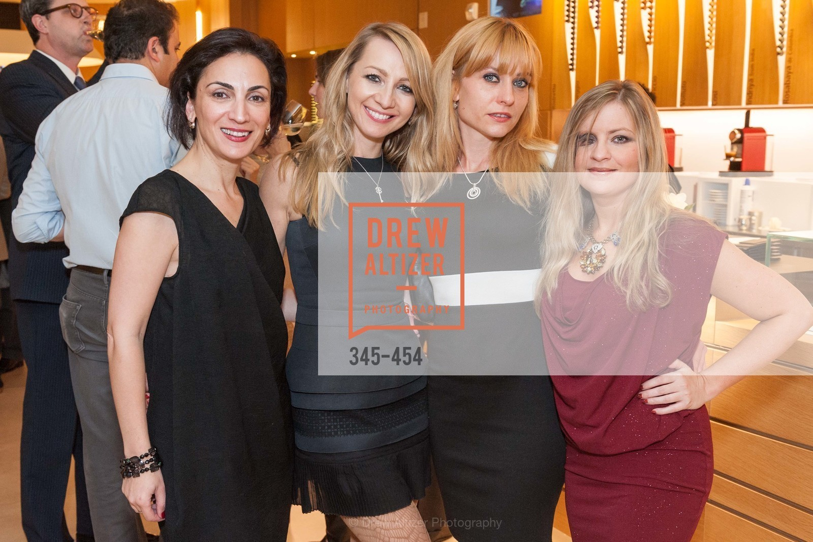 Irina Bragin, Lana Ricketts, Irina Kondratenko, Julie Hall, 2014 SAN FRANCISCO BALLET ENCORE! Kick-Off Party, US. Nespresso Boutique Bar, 90 Grant Avenue, January 7th, 2014,Drew Altizer, Drew Altizer Photography, full-service agency, private events, San Francisco photographer, photographer california