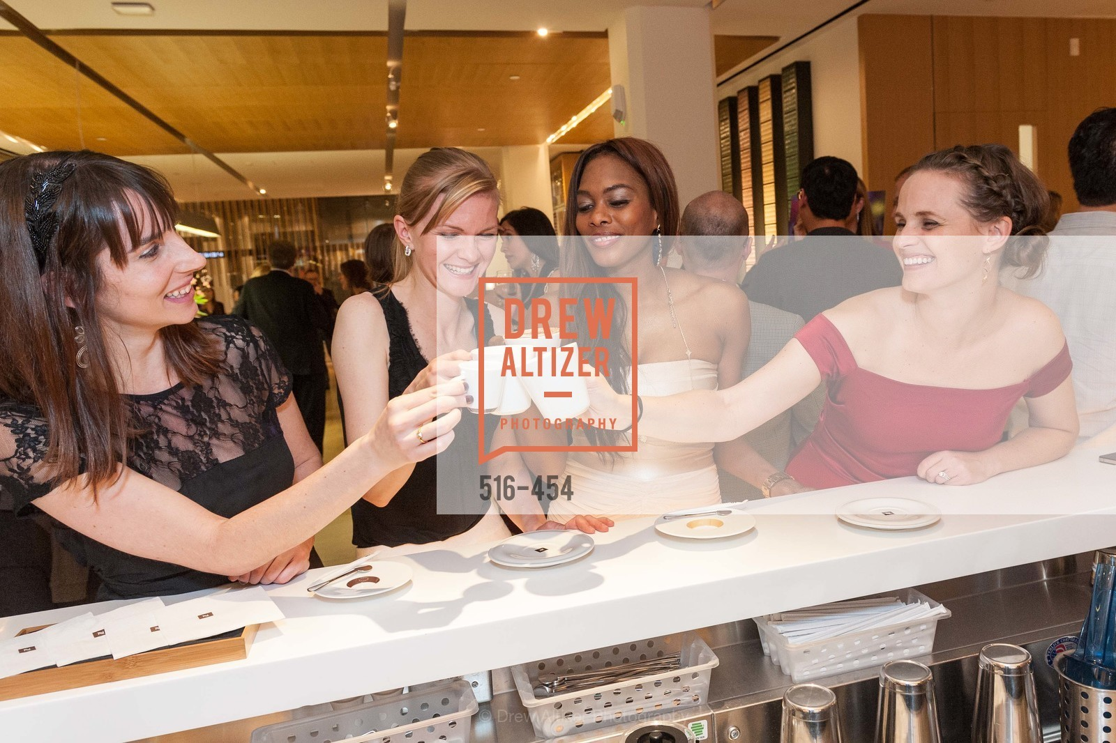 April Johnston, Greer Goings, Vanessa Jean Baptiste, Alyson Blume, 2014 SAN FRANCISCO BALLET ENCORE! Kick-Off Party, US. Nespresso Boutique Bar, 90 Grant Avenue, January 7th, 2014,Drew Altizer, Drew Altizer Photography, full-service agency, private events, San Francisco photographer, photographer california