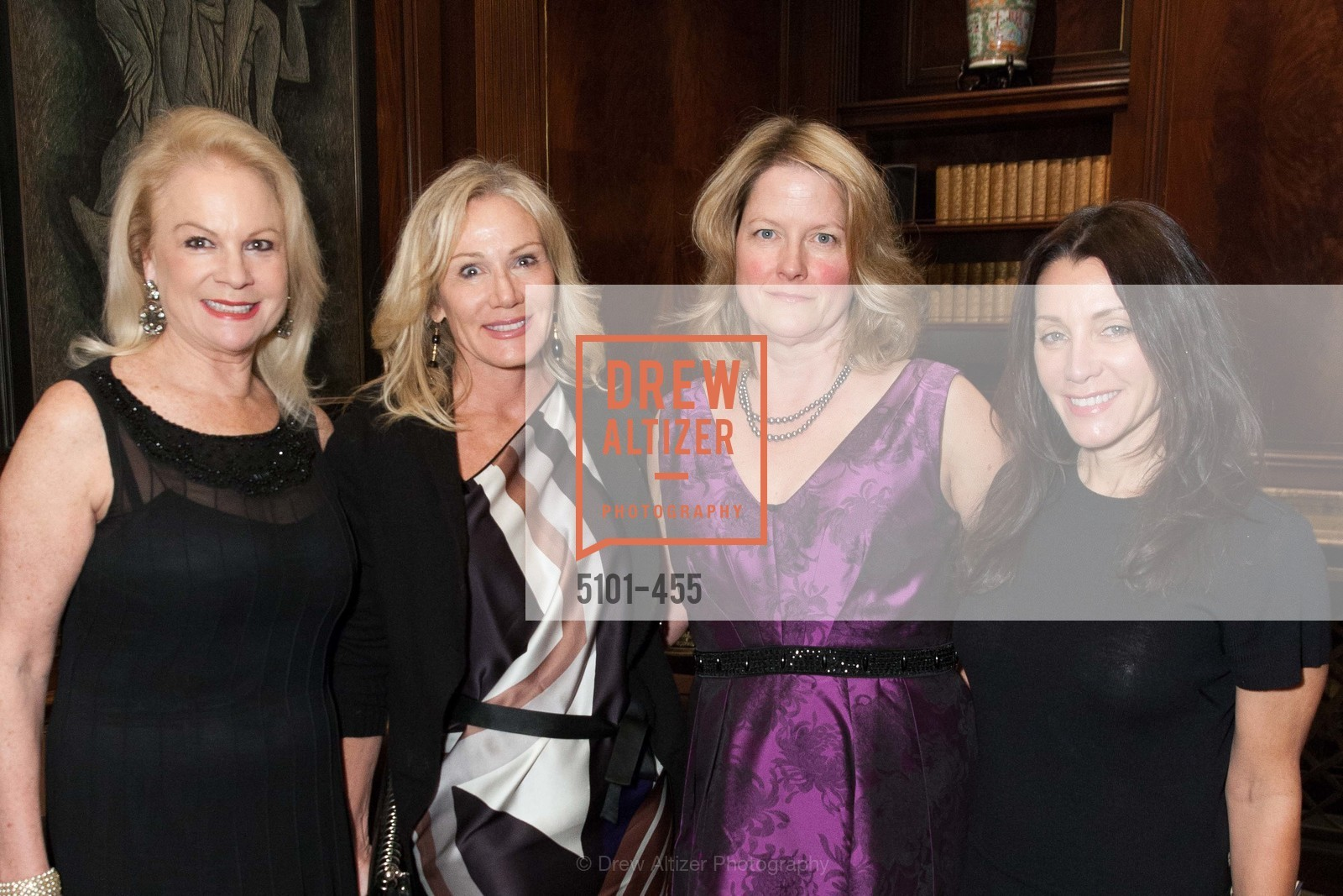Claire Kostic, Rosemary Baker, Ann Baer, Deborah Taylor, SAN FRANCISCO BALLET Grand Benefactors Reception, US. US, January 8th, 2014
