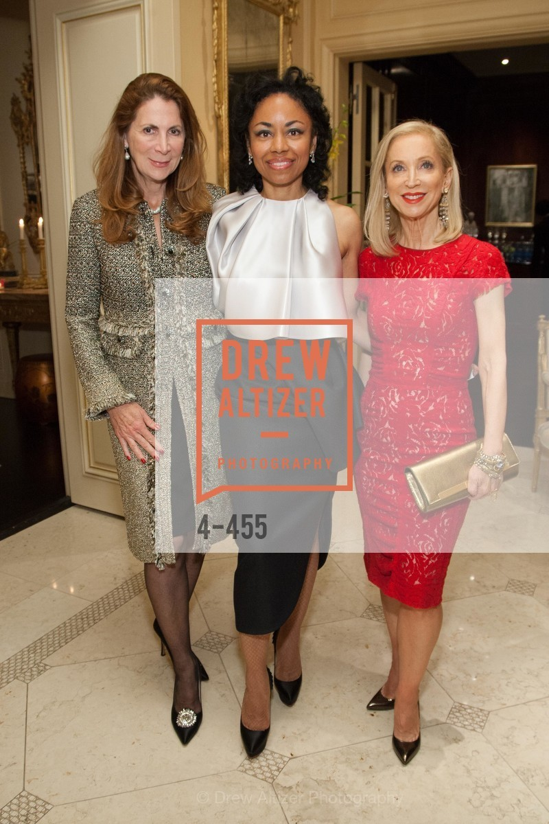 Patricia Ferrin Loucks, Tanya Powell, Shelley Gordon, SAN FRANCISCO BALLET Grand Benefactors Reception, US. US, January 8th, 2014