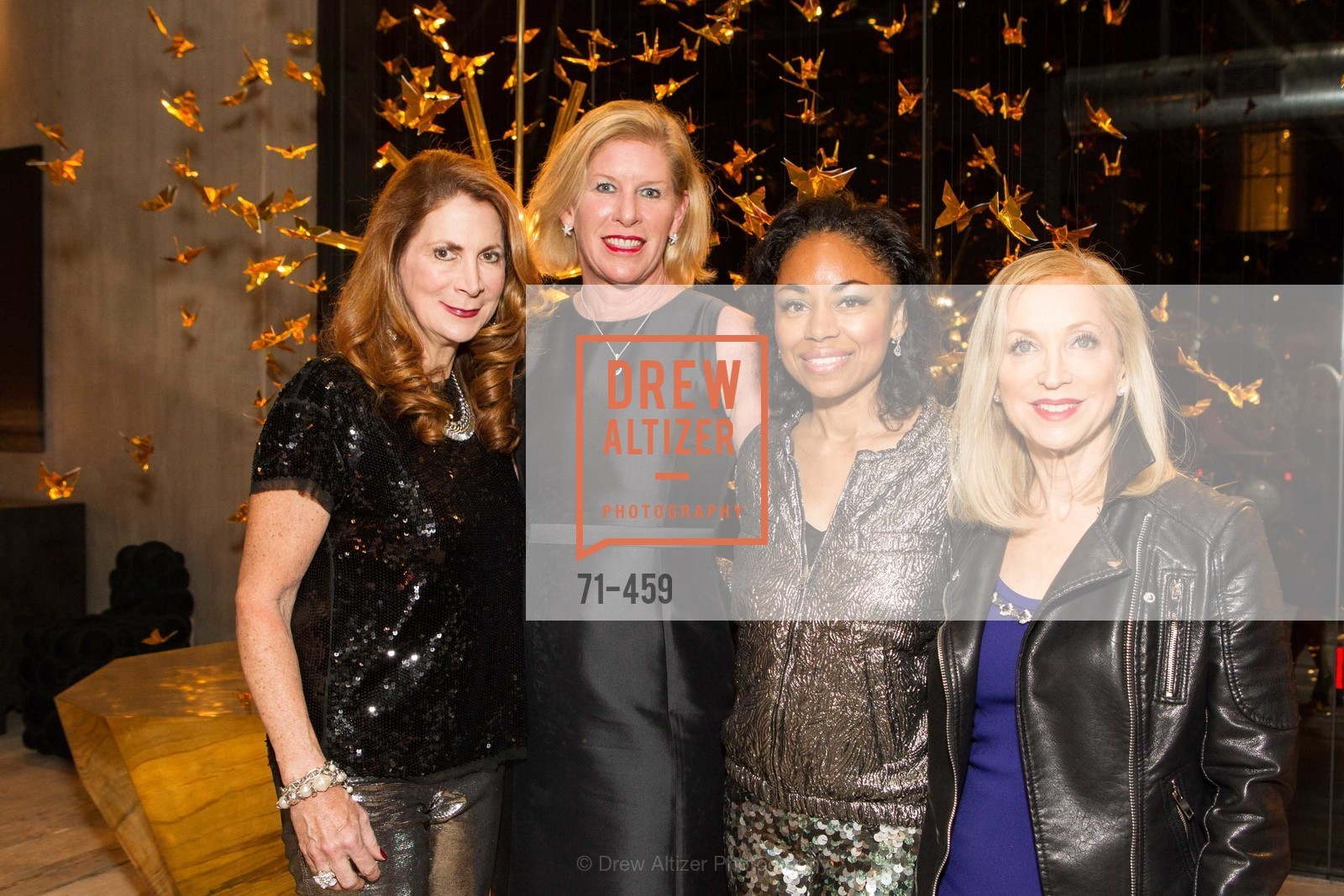 Patricia Ferrin Loucks, Jennifer Brandenburg, Tanya Powell, Shelley Gordon, 2014 SAN FRANCISCO BALLET OPENING NIGHT GALA Patron and Sponsor Reception, US. US, January 14th, 2014,Drew Altizer, Drew Altizer Photography, full-service event agency, private events, San Francisco photographer, photographer California