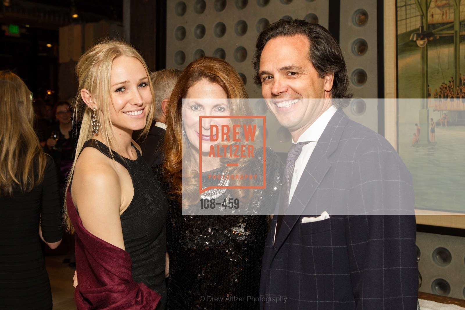 Juliana Del Beccaro, Patricia Ferrin Loucks, Thomas Del Beccaro, 2014 SAN FRANCISCO BALLET OPENING NIGHT GALA Patron and Sponsor Reception, US. US, January 14th, 2014,Drew Altizer, Drew Altizer Photography, full-service agency, private events, San Francisco photographer, photographer california