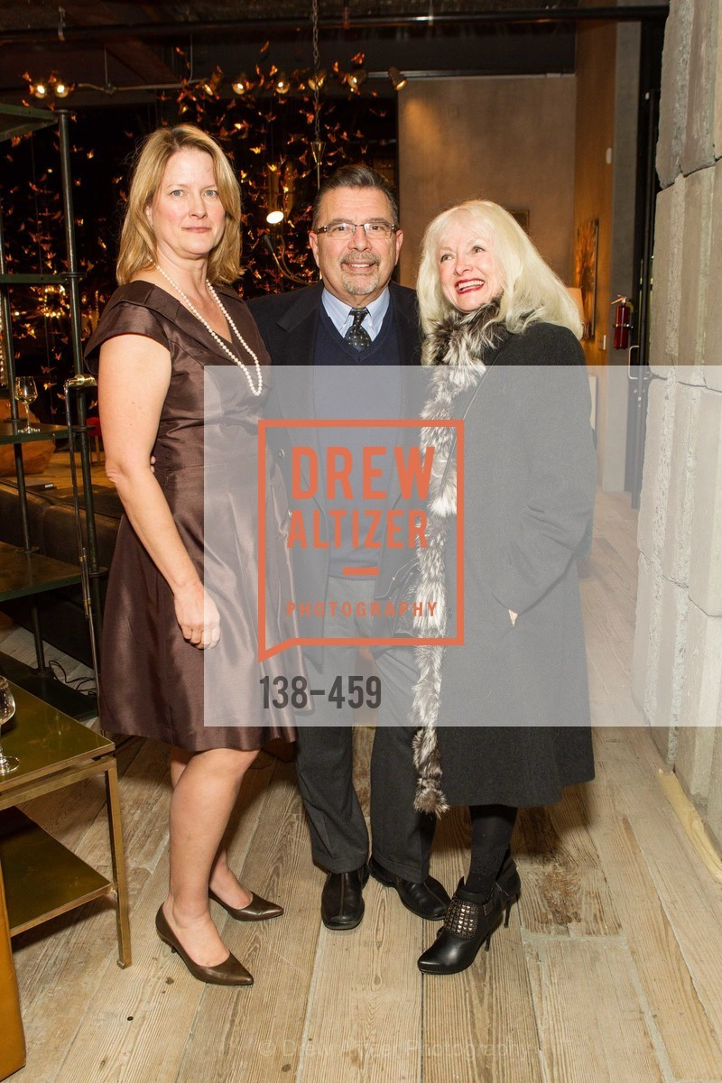 Ann Baer, Frank Espina, Andrea Espina, 2014 SAN FRANCISCO BALLET OPENING NIGHT GALA Patron and Sponsor Reception, US. US, January 14th, 2014,Drew Altizer, Drew Altizer Photography, full-service agency, private events, San Francisco photographer, photographer california
