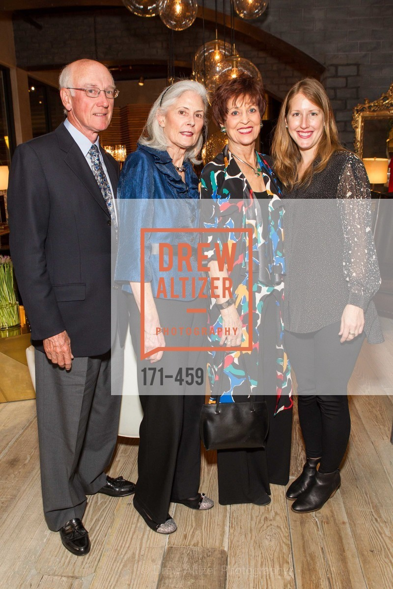 Kingsley Chatton, Antoinette Chatton, Suzanne Thornton, Sarah Malashock, 2014 SAN FRANCISCO BALLET OPENING NIGHT GALA Patron and Sponsor Reception, US. US, January 14th, 2014