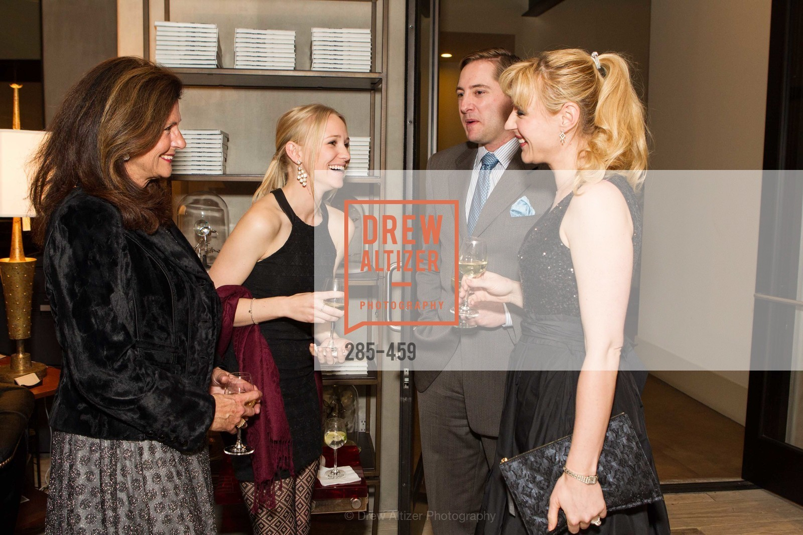 Linda Zider, Juliana Del Beccaro, Brian Gustafson, Liza Gustafson, 2014 SAN FRANCISCO BALLET OPENING NIGHT GALA Patron and Sponsor Reception, US. US, January 14th, 2014,Drew Altizer, Drew Altizer Photography, full-service agency, private events, San Francisco photographer, photographer california
