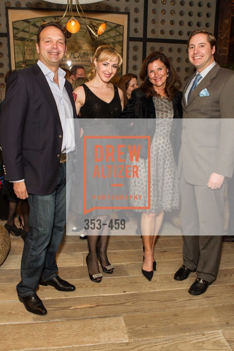 Guillaume Orliac, Liza Gustafson, Linda Zider, Brian Gustafson, 2014 SAN FRANCISCO BALLET OPENING NIGHT GALA Patron and Sponsor Reception, US. US, January 14th, 2014,Drew Altizer, Drew Altizer Photography, full-service agency, private events, San Francisco photographer, photographer california
