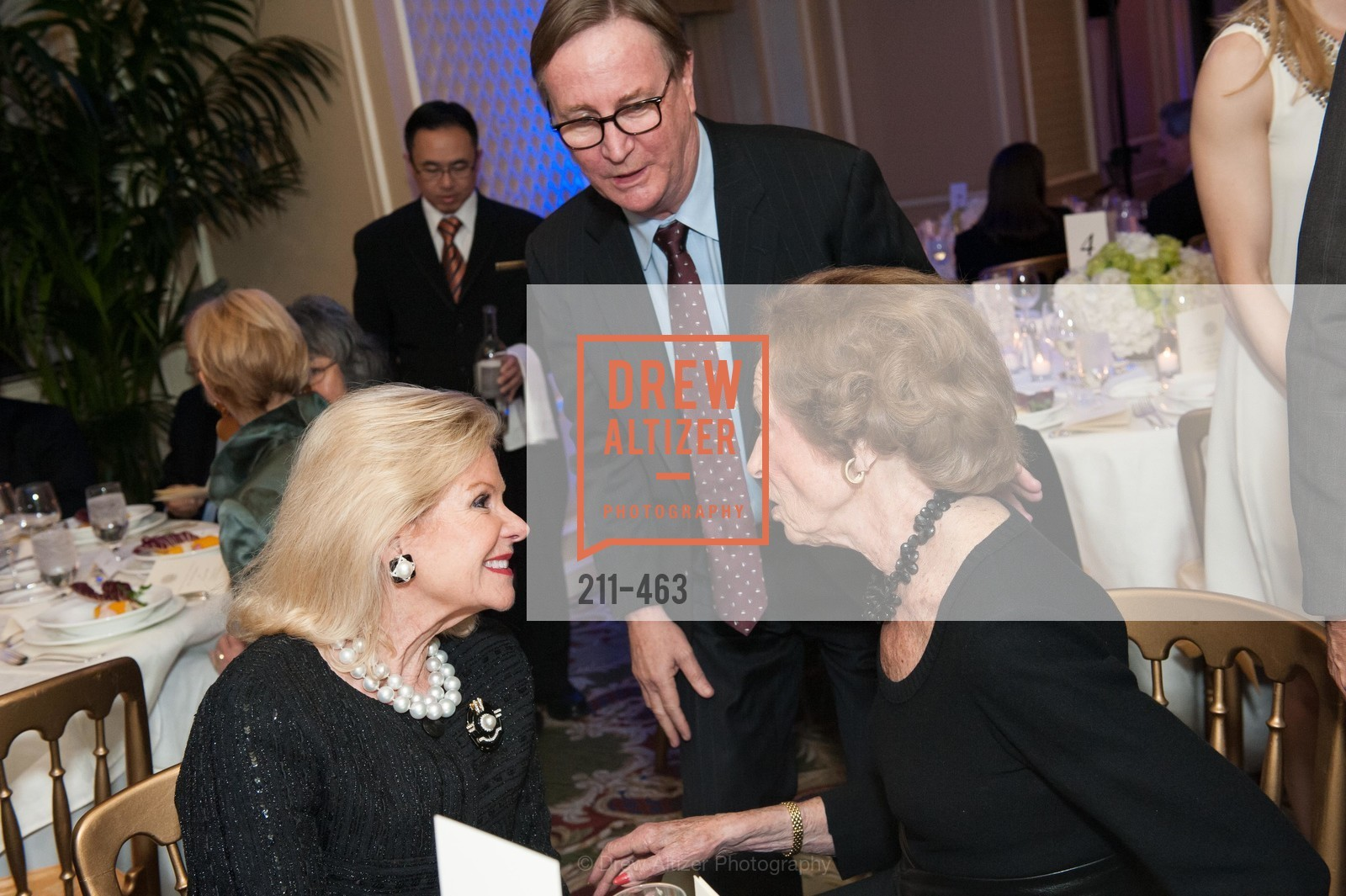 Dede Wilsey, Sam Hawgood, Doris Fisher, UCSF Nina Ireland Program for Lung Health Dinner, US. The Terrace Room, The Ritz-Carlton Hotel, January 15th, 2014,Drew Altizer, Drew Altizer Photography, full-service event agency, private events, San Francisco photographer, photographer California