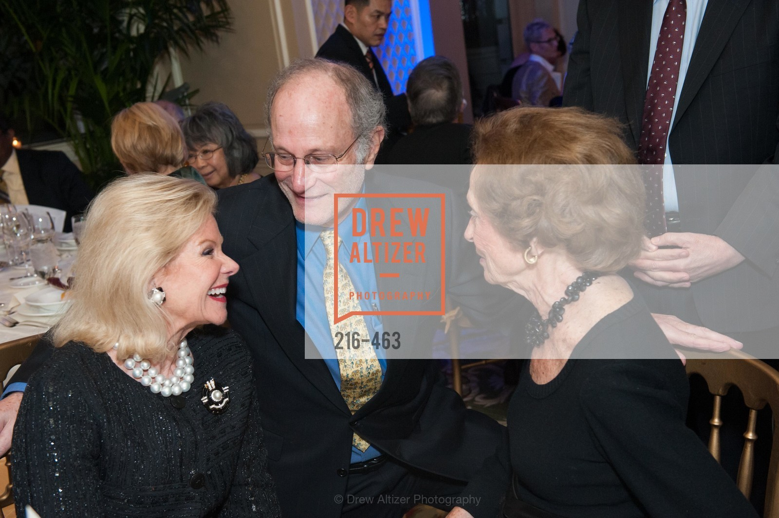 Dede Wilsey, Jeffrey Golden, Doris Fisher, UCSF Nina Ireland Program for Lung Health Dinner, US. The Terrace Room, The Ritz-Carlton Hotel, January 15th, 2014,Drew Altizer, Drew Altizer Photography, full-service agency, private events, San Francisco photographer, photographer california