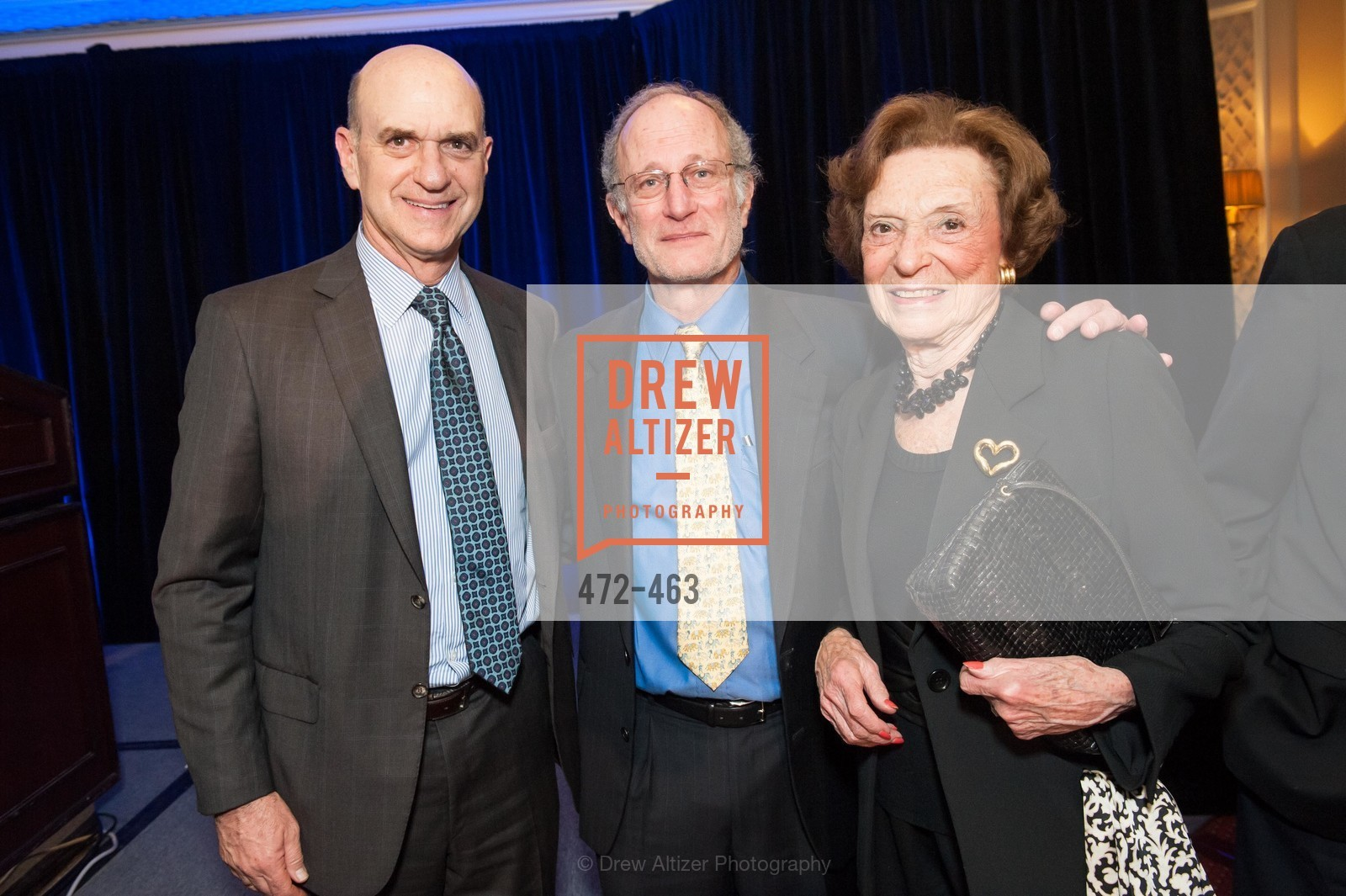 Bob Fisher, Jeffrey Golden, Doris Fisher, UCSF Nina Ireland Program for Lung Health Dinner, US. The Terrace Room, The Ritz-Carlton Hotel, January 15th, 2014,Drew Altizer, Drew Altizer Photography, full-service agency, private events, San Francisco photographer, photographer california