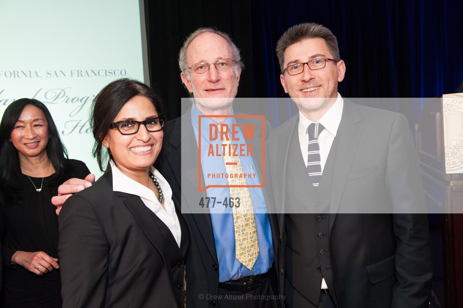 Jasleen Kukreja, Jeffrey Golden, Mark Brzezinski, UCSF Nina Ireland Program for Lung Health Dinner, US. The Terrace Room, The Ritz-Carlton Hotel, January 15th, 2014,Drew Altizer, Drew Altizer Photography, full-service agency, private events, San Francisco photographer, photographer california