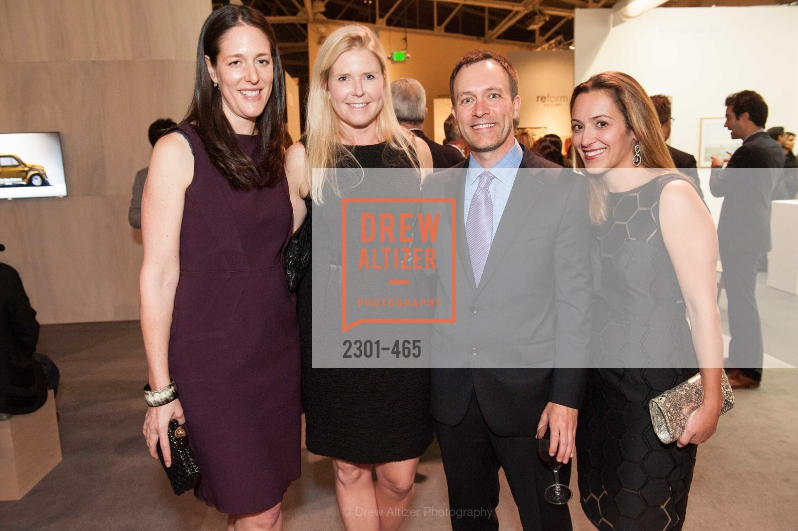 Lisa Targer, Virginia Tusher, Scott Crabill, Angela Crabill, FOG Design + Art Preview Gala, US. US, January 16th, 2014,Drew Altizer, Drew Altizer Photography, full-service agency, private events, San Francisco photographer, photographer california