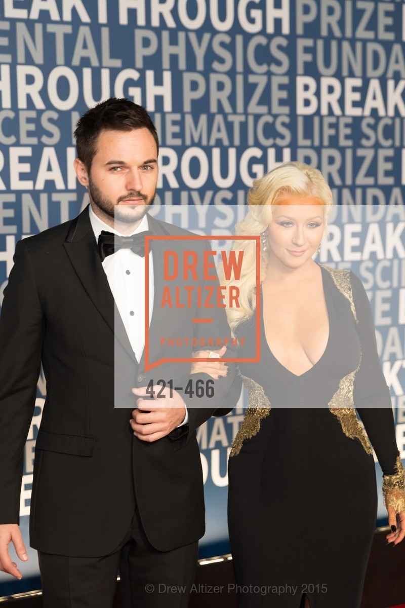 Matthew Rutler, Christina Aguilera, THE BREAKTHROUGH PRIZE Hosted By Seth MacFarlane, Ames Research Center. Naval Air Station, Moffett Field, November 8th, 2015,Drew Altizer, Drew Altizer Photography, full-service agency, private events, San Francisco photographer, photographer california